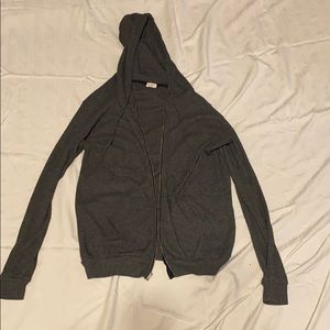 Brandy Melville// John Galt gray jacket w/ hoodie